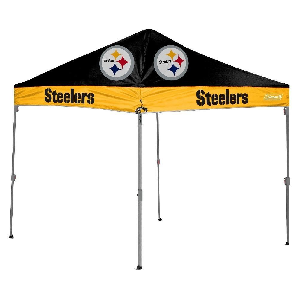 Pittsburgh Steelers Nfl Coleman 10 X 10 Straight Leg Tailgate Canopy 10x10 Canopy Steelers Pittsburgh Steelers