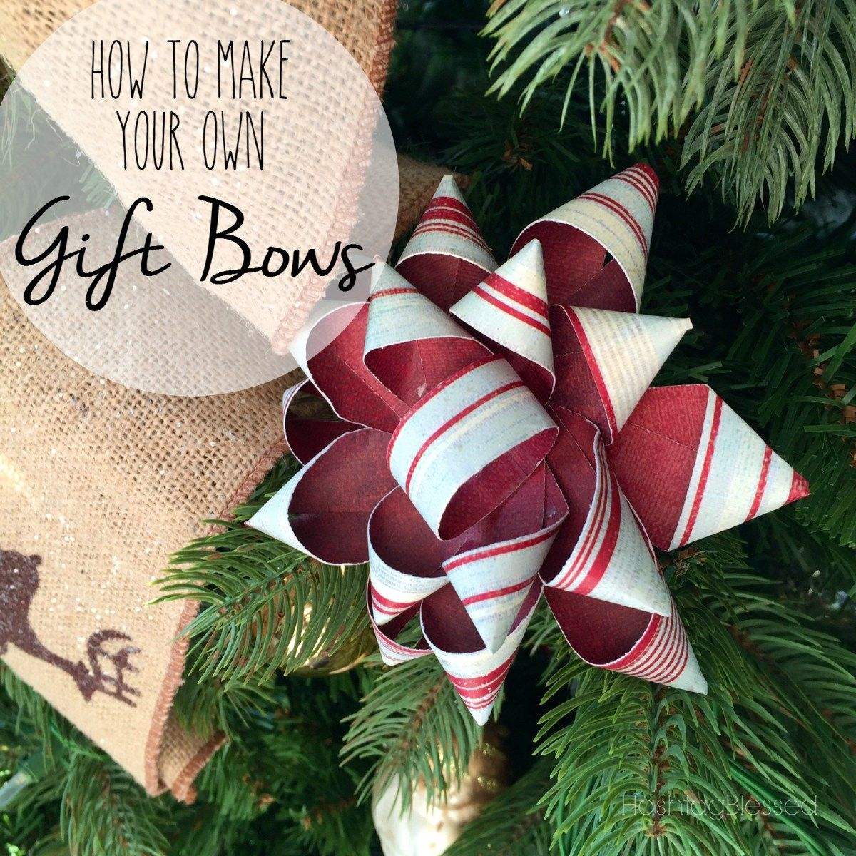 making your own gift bows