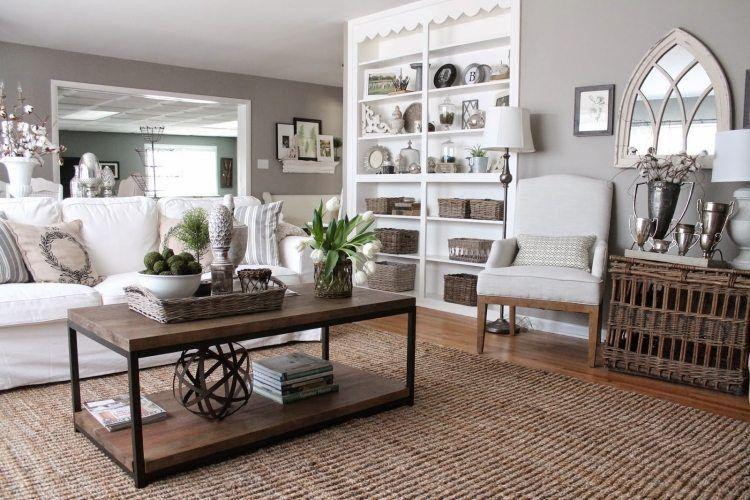 Déco et meubles shabby chic dans le salon \u2013 55 idées vintage très