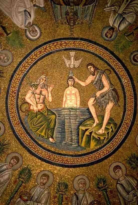 Mosaik Mit Der Taufe Jesu Durch Johannes Wasserwelten In