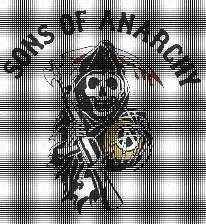 sons of anarchy hama beads - Google Search