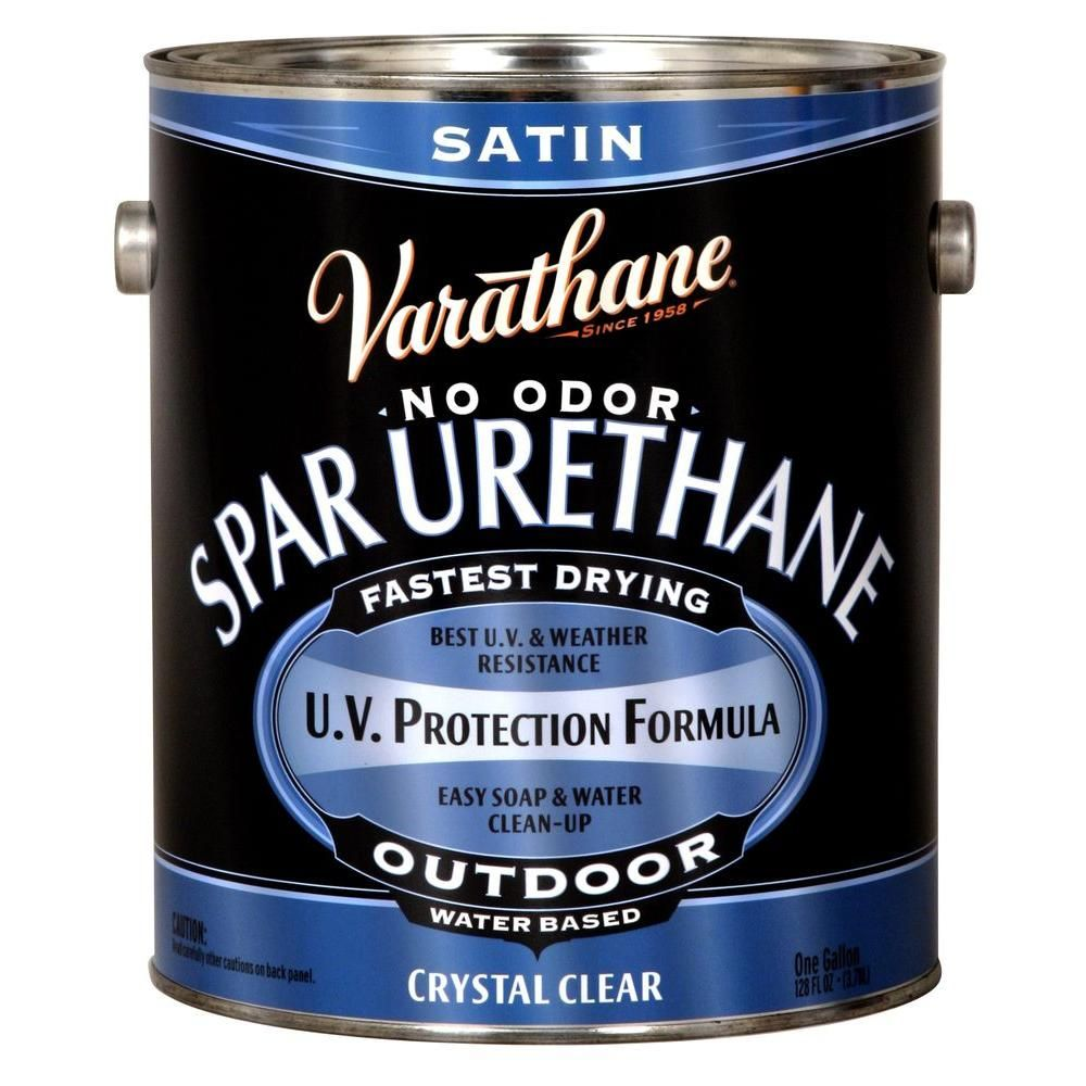 Varathane 1 Gal Clear Satin Water Based Exterior Spar Urethane 2 Pack 250231 Painting Ceramic Tiles Ceramic Painting Ceramic Floor Tiles