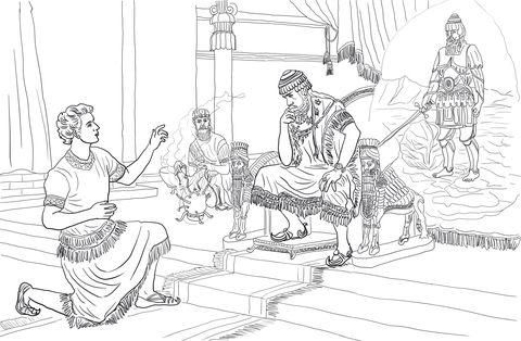 Daniel Interprets Nebuchadnezzars Dream Coloring Page