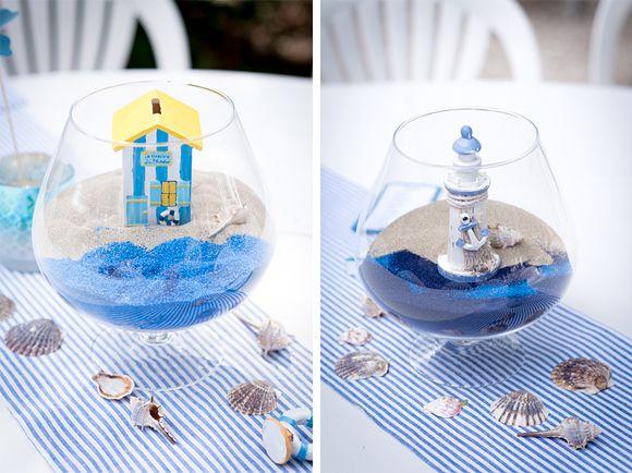 Baptême thème marin, reportage photo d'une belle décoration