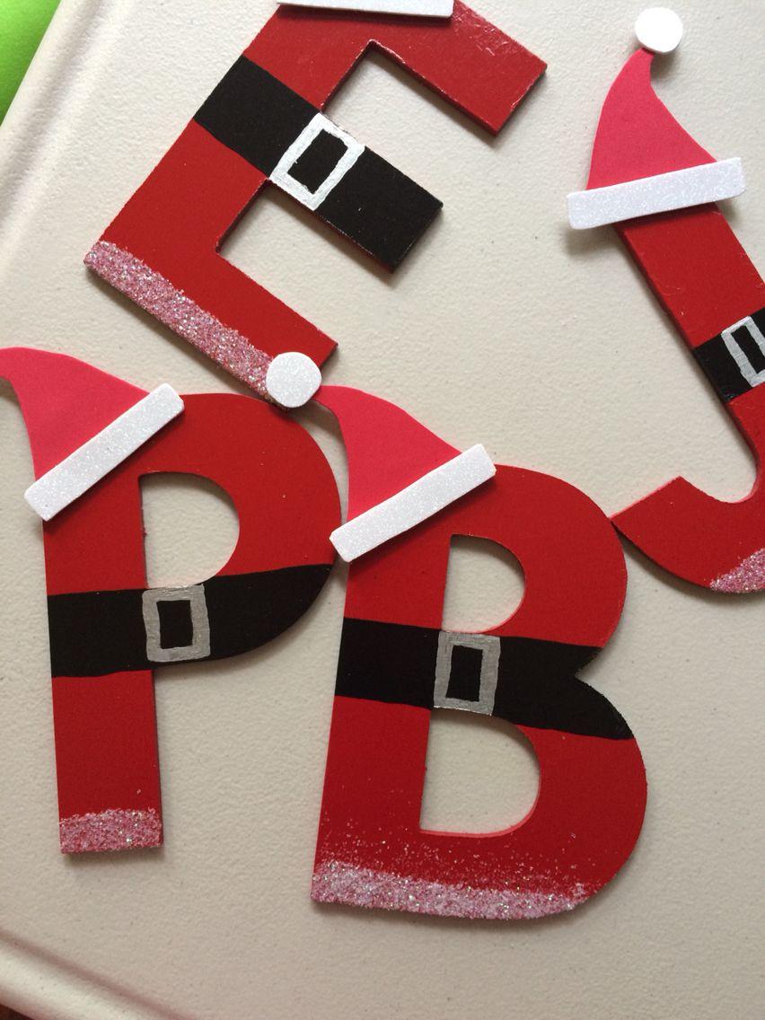 Letras navide as mis creaciones pinterest adornos for Navidad adornos manualidades navidenas