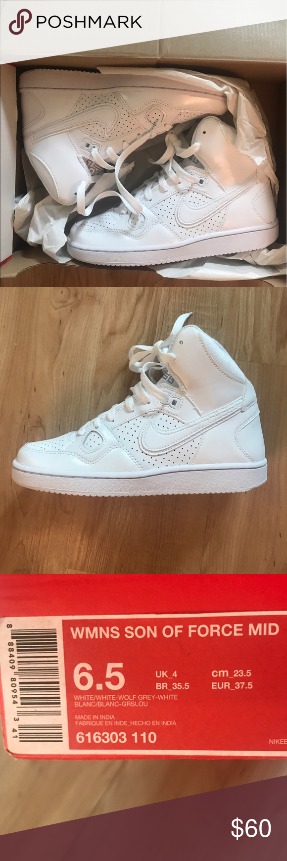 NEW Nike Women's Son of Air Force One Mid Sz Brand new, still in