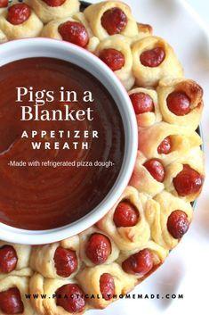 Little Smokies Pigs in a Blanket Wreath   Practically Homemade