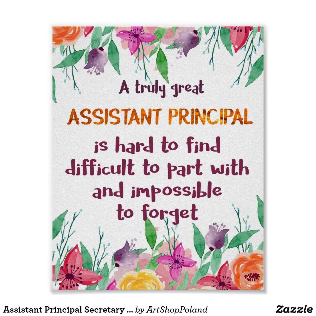 Assistant Principal Secretary Appreciation Thank Poster