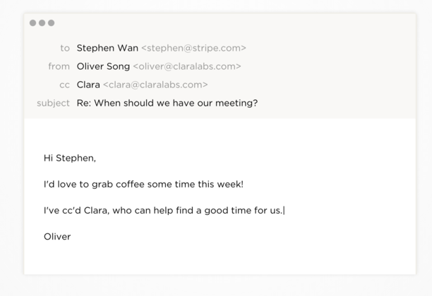 Clara Virtual employee that schedules your meetings