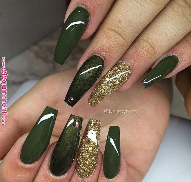 65 Beautiful Matte Glitters Nail Art Ideas Nails And Nail Art In 2019 Pinterest Nails Acrylic Nails And Nail Art Fall Acrylic Nails Green Nail Art Green Nails