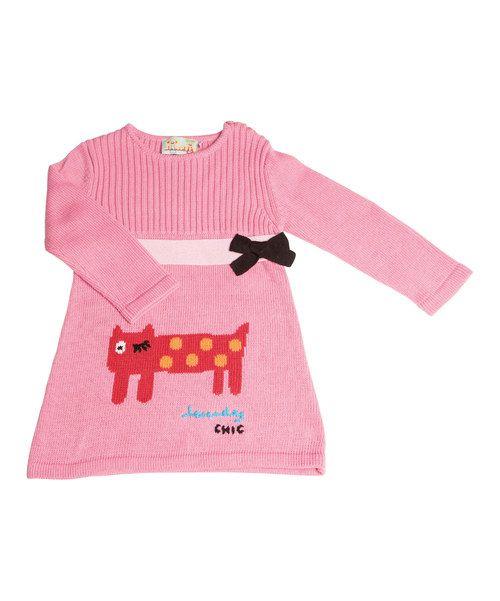 Another great find on #zulily! Lourdes Pink & Red Cat Dress - Infant, Toddler & Girls by Lourdes #zulilyfinds