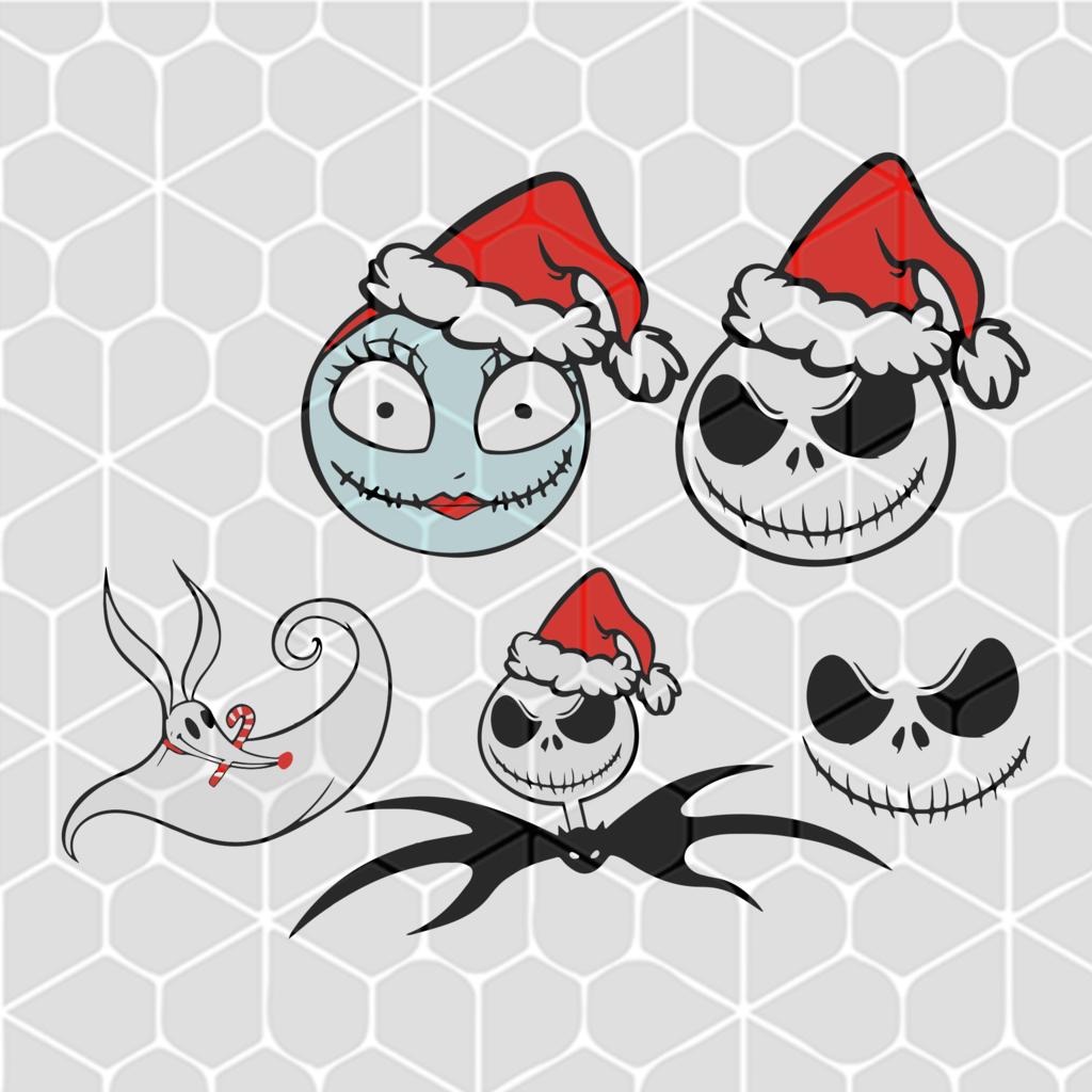 Christmas Jack Skellington Characters Bundle Svg Files For Silhouette Files For Cricut Svg Dxf Eps Png Instant Downloa Jack Skellington Christmas Svg Christmas