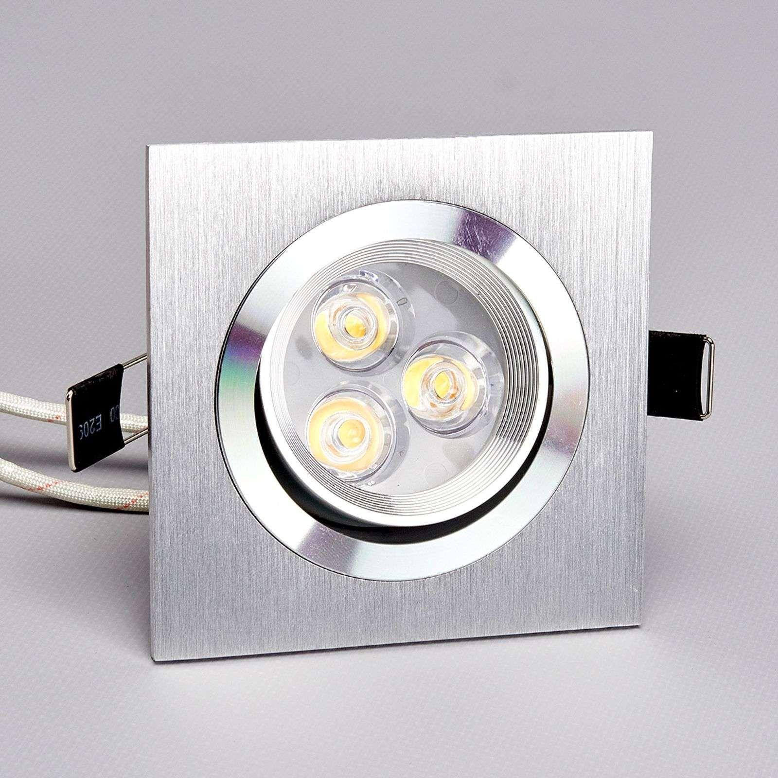 Tjark Spot Carre Encastrable Led En Aluminium En 2020 Led Lampe Led Et Spot Encastrable