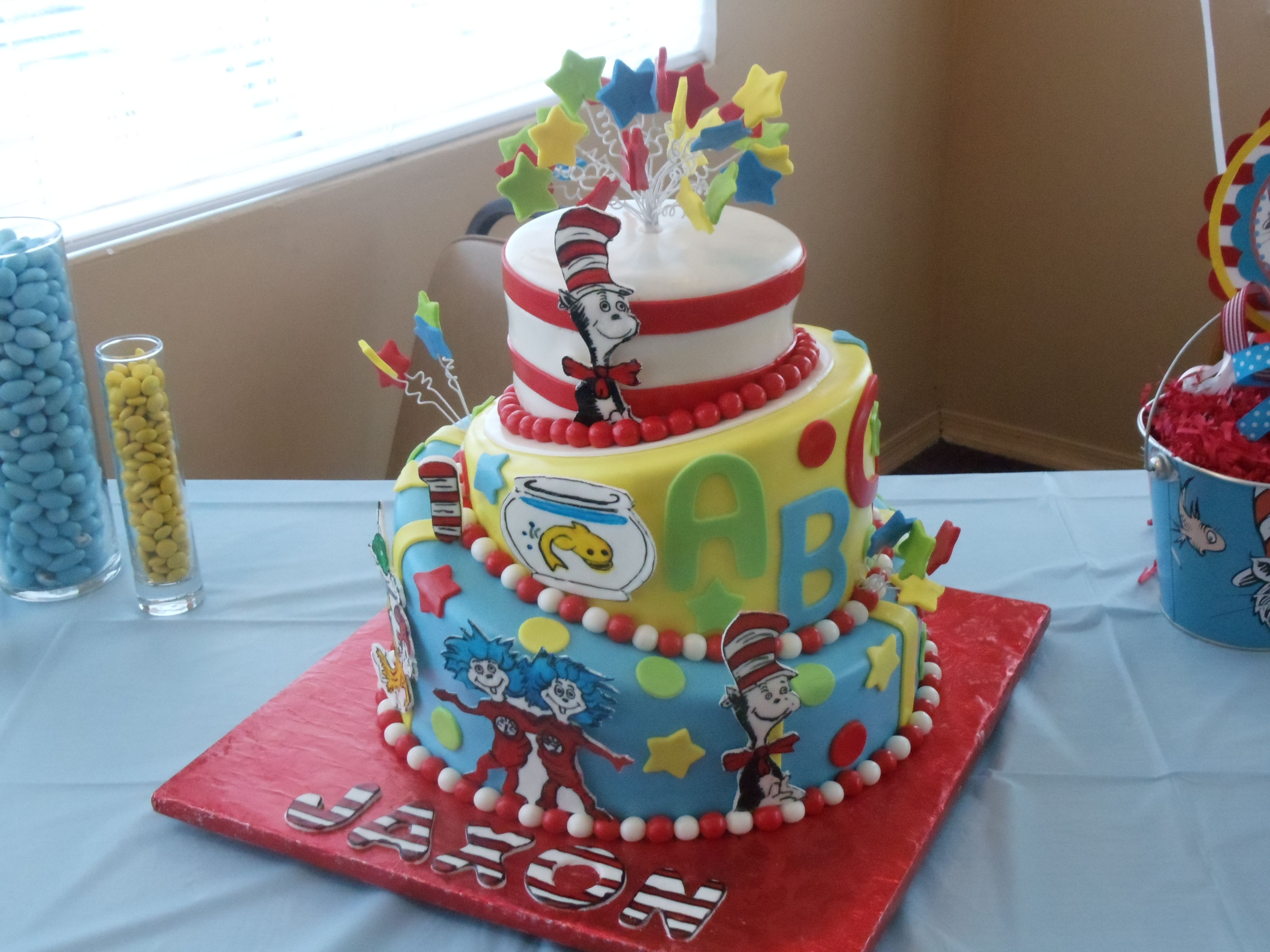 My Son S First Birthday Cake Dr Seuss Dr Suess Birthday Party Ideas Dr Seuss Cake Dr Seuss Birthday Party