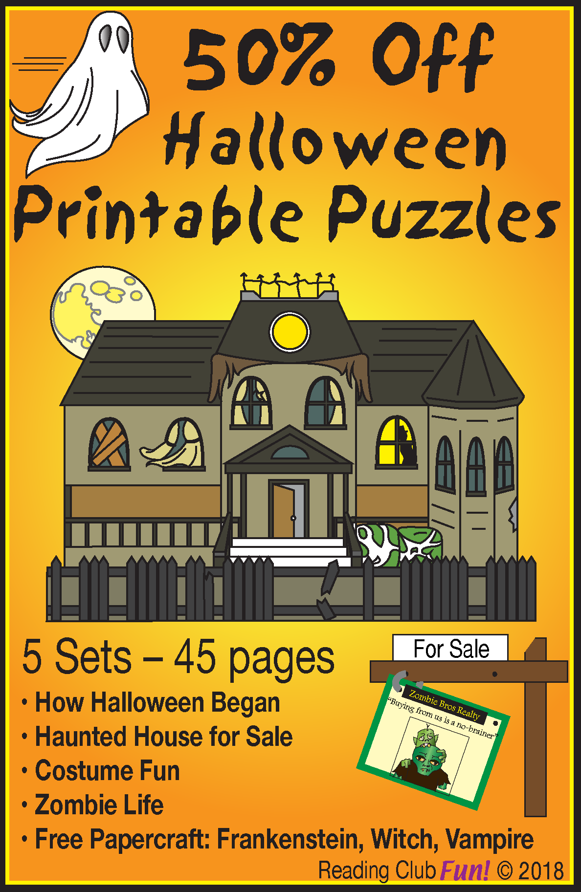 Halloween Fun Bundle 4 Lively Puzzle Sets Creature