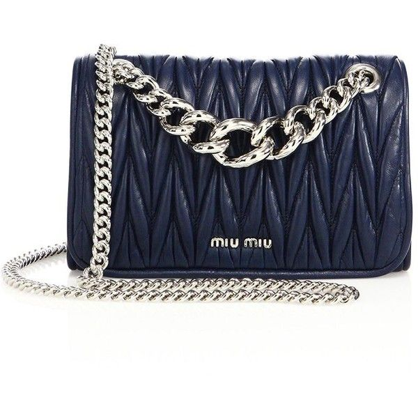 b0d0c83a4619 Miu Miu Club Matelassé Leather Chain Shoulder Bag ( 1