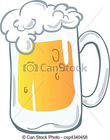 Vector Jarra De Cerveza Stock De Ilustracion Fondo Blanco Con