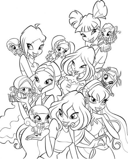 Winx Pixie Coloring Pages For Girls Disegni Da Colorare Winx