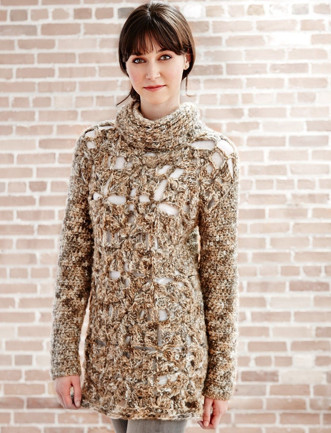 Granny Openwork Pullover: free #crochet #pullover #pattern ...