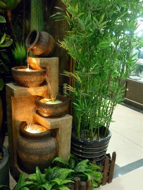 40 Relaxing Indoor Fountain Ideas #waterfeatures