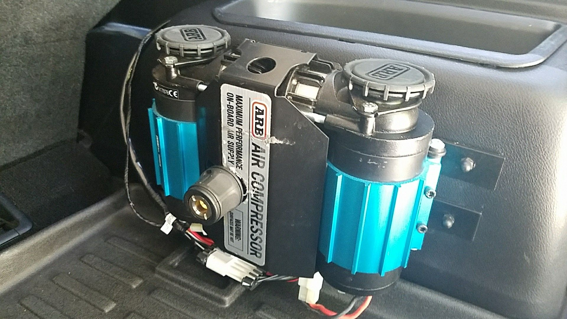 ARB compressor mounted in rear compartment Compressor