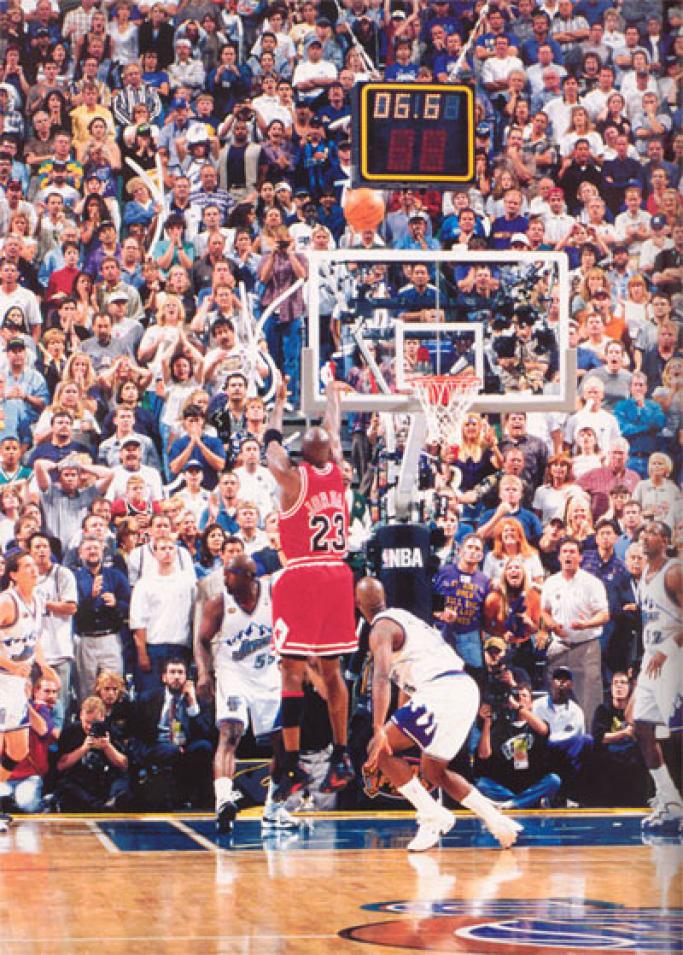 ab3a87a3e51 Michael Jordan Michael Jordan s Last Shot As A Bull
