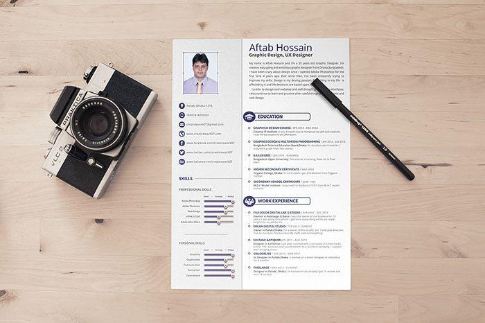 Free  Page Resume Template  Resume    Resume Templates