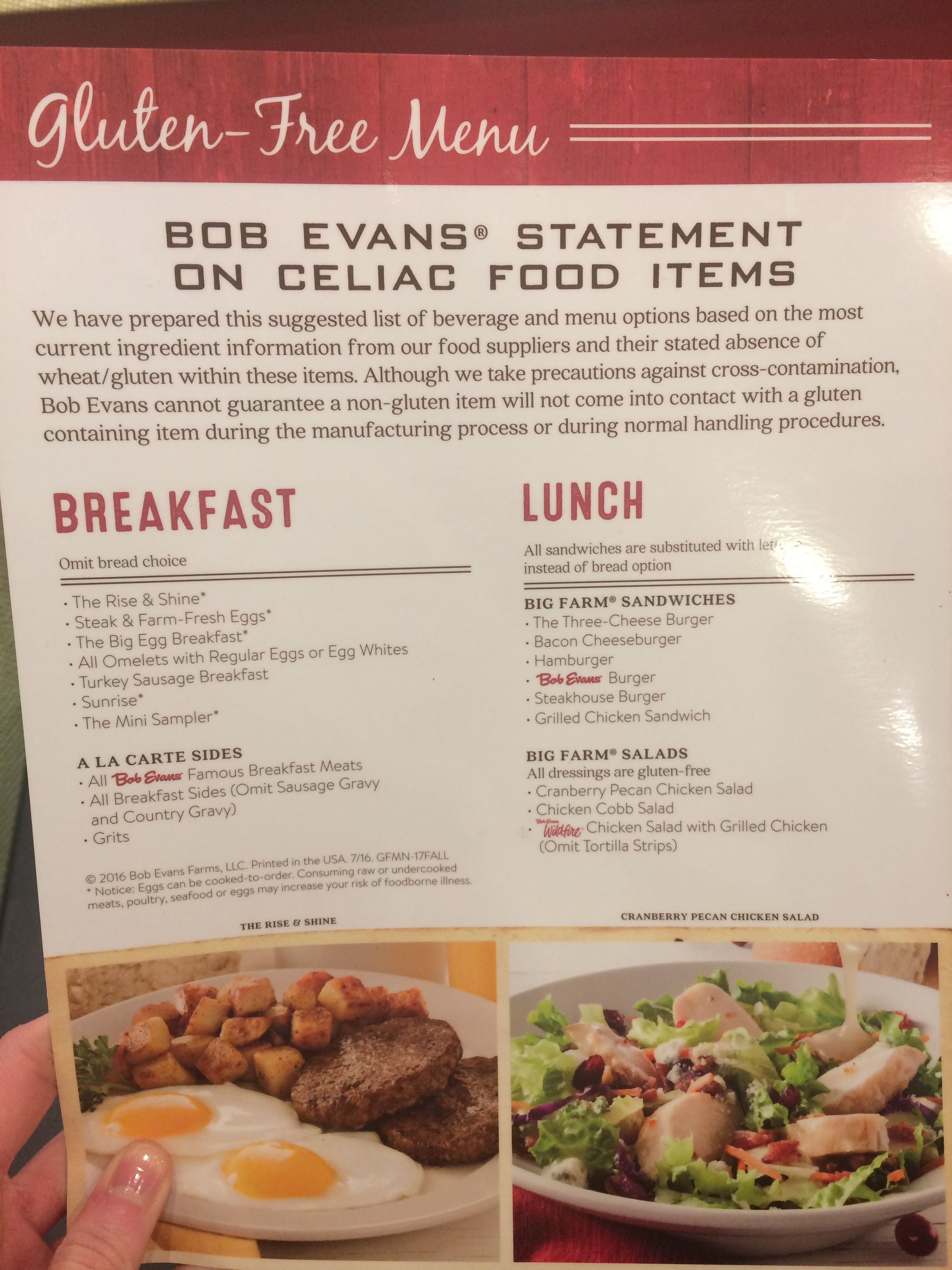 photo regarding Bob Evans Printable Menu called Bob Evans gluten absolutely free menu Gluten Absolutely free strategies within 2019