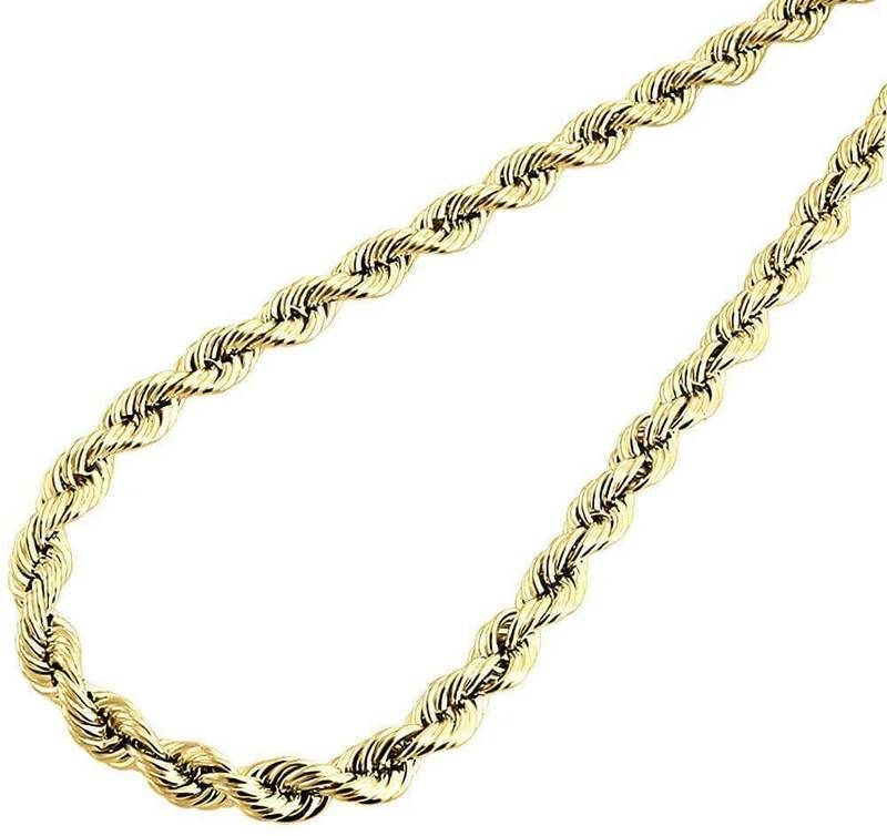 10k Yellow Gold Rope Chain 5mm Bracelet 9 Inches Gold Chains For Men Chains For Men Mens Chain Necklace