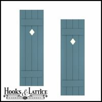 Cutout Shutters, Exterior Board And Batten Shutters