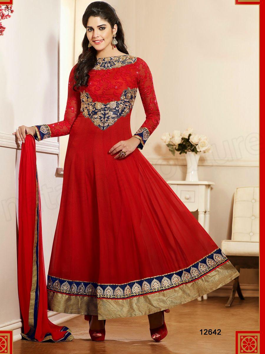 #Designer Salwar Kameez#Red #Indian Wear#Desi Fashion #Natasha Couture#Indian Ethnic Wear#Indian Suit#Anarkali