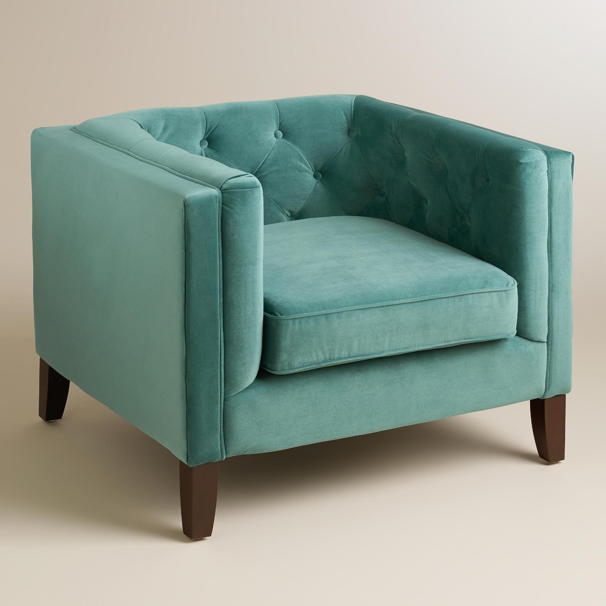 full of mid century style our teal kendall velvet chair is polished rh pinterest com