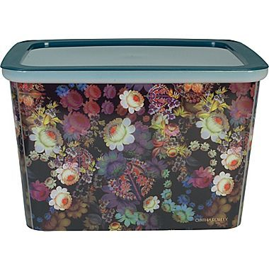 Marvelous Cynthia Rowley Large Storage Box, Cosmic Black Floral | Staples