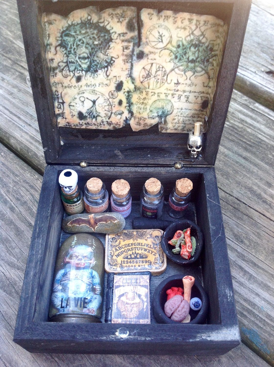 Miniature Black Magic Witches Box One of a Kind. by HalesHaven on Etsy