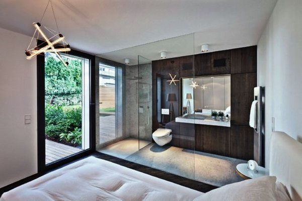 Awesome master bedroom ensuite bathroom open plan bathroom for Small bedroom with attached bathroom designs