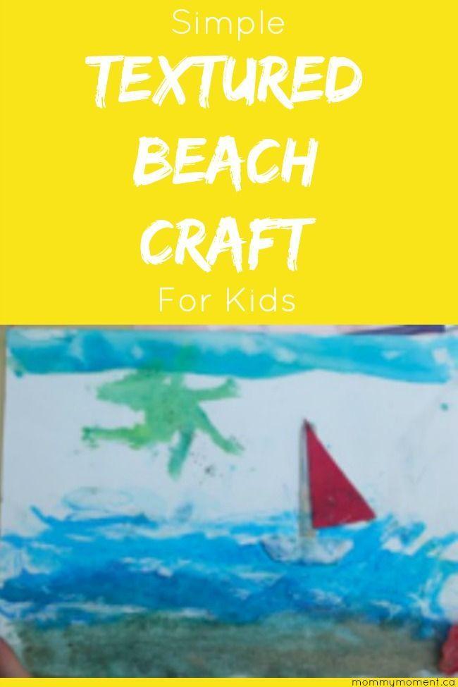 Textured Beach Craft Kids Pinterest Beach Crafts Crafts For