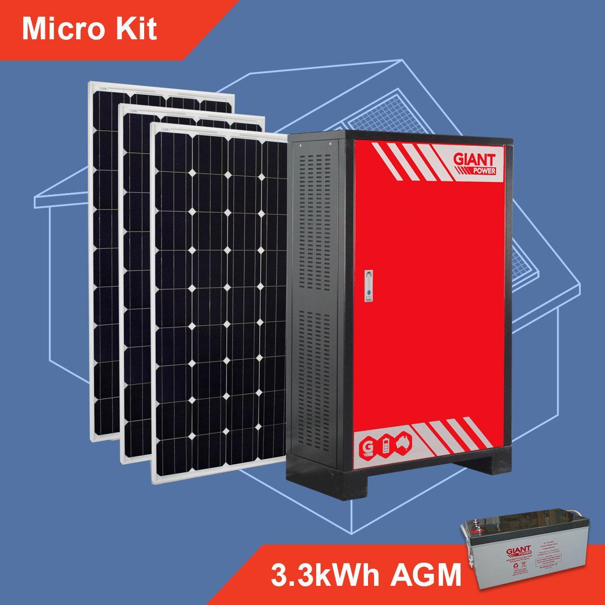 7 2kwh 12v 600ah Giant Power Agm Battery Bank 12v Cells Solar System Kit Off Grid Solar Off Grid System