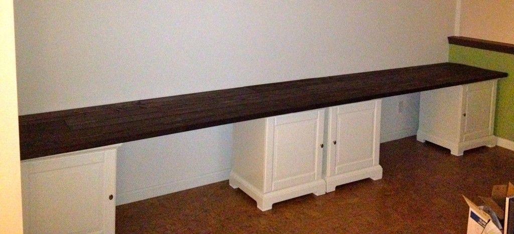 Homemade Desks long desk: wide function in long shape : homemade super long desk