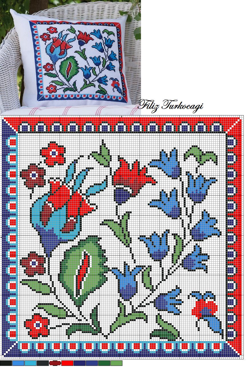 Турция схема вышивки