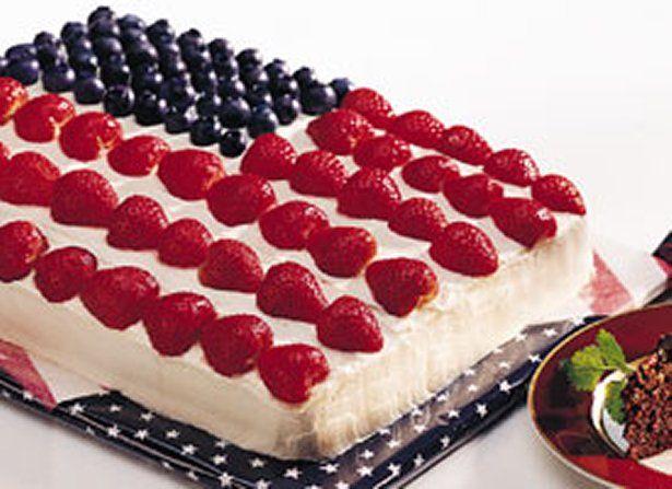 Flag Cake Recipe Flag Cake Recipe Striped Cake Cake Recipes