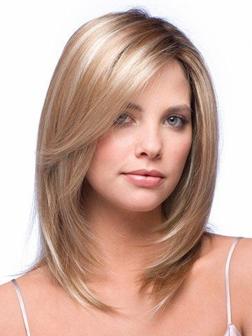 Layered Medium Length Hair With Face Framing Layers Hair Beauty