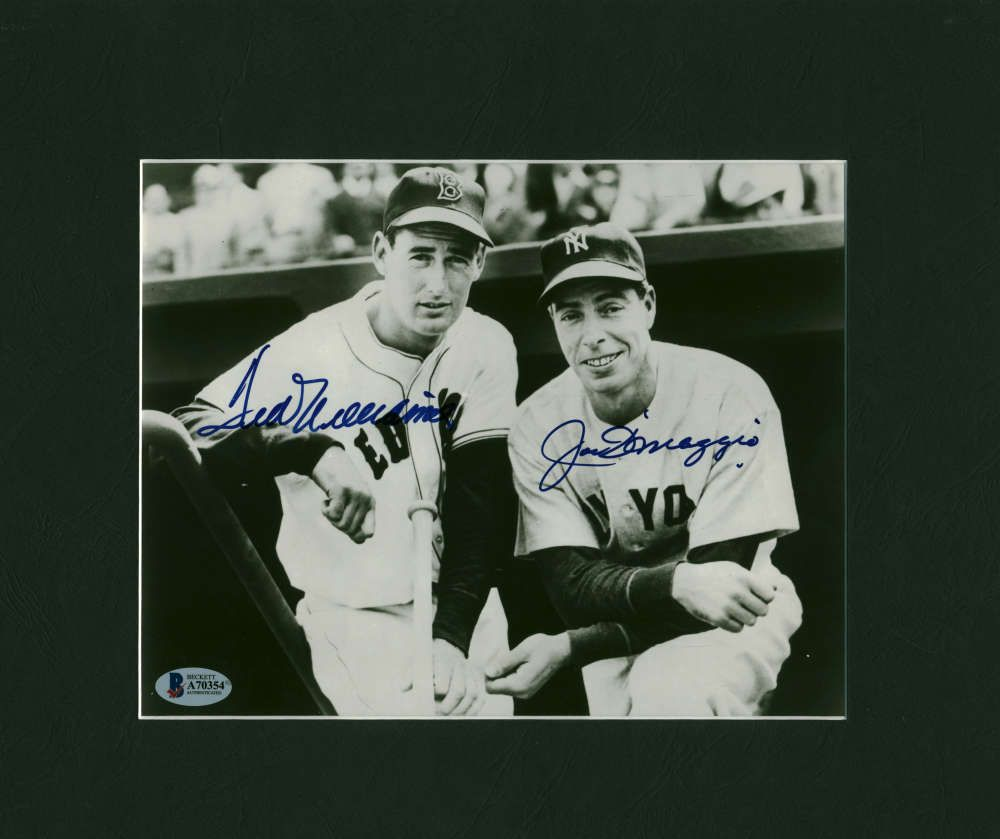 d59b2cd372a Ted Williams Joe DiMaggio Signed Autographed 8x10 Photograph Beckett BAS  (eBay Link)