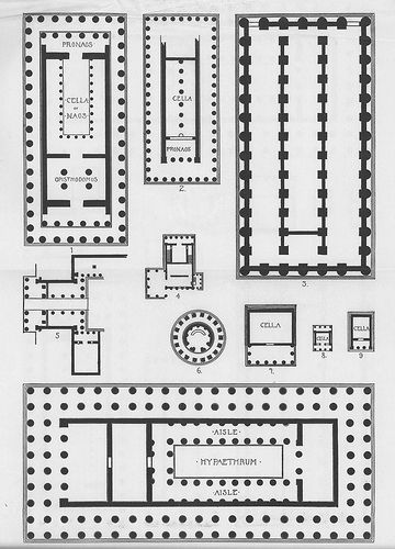 Greek Temples Plans Greek Temple Ancient Greek Architecture How To Plan