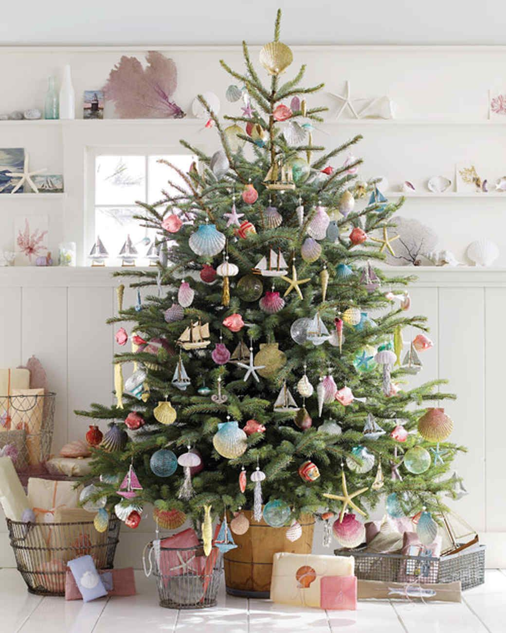 sea inspired tree creative christmas tree decorating ideas martha stewart living channeling childhood summers spent on cape cod crafts director hannah - Martha Stewart Christmas Tree Decorations