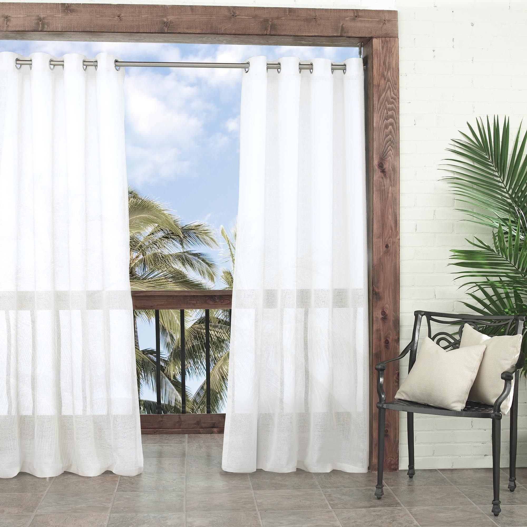 panels garden treatment window outdoor amazon dupione grommets sunbrella with in curtain x pearl dp com