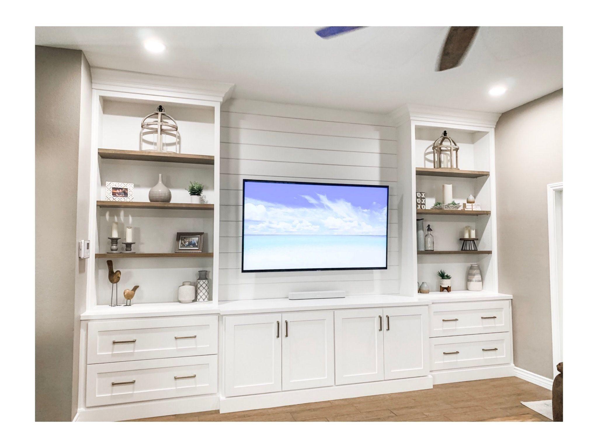 Custom Built In Entertainment Center In 2020 Living Room Entertainment Center Built In Entertainment Center Living Room Built Ins