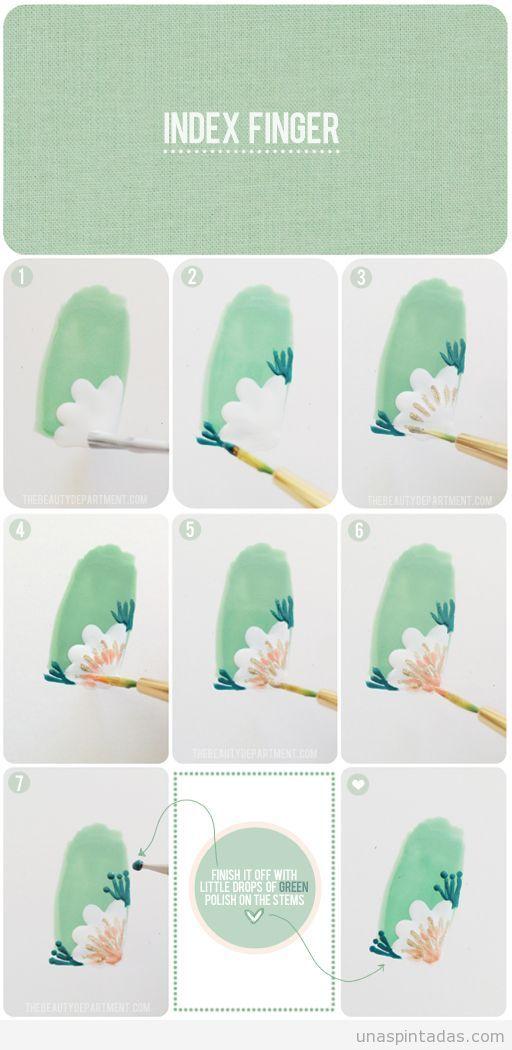 Tutorial paso a paso para aprender a dibujar una flor en la esquina ...