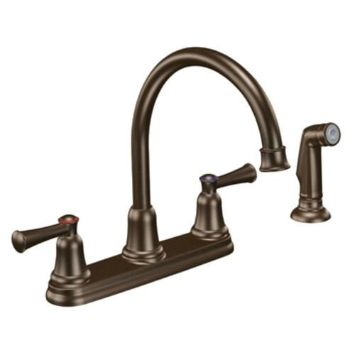 (CLICK IMAGE TWICE FOR DETAILS AND PRICING) CFG Capstone 41613OWB Kitchen Sink Faucet w Spray Old World Bronze. The Cleveland Faucet Group offers an unparalleled combination of design, manufacturing and service. The Capstone Kitchen Faucet offers quick installation, simple maintenance, and easy cleaning. It utili.... See More Kitchen Faucets at http://www.ourgreatshop.com/Kitchen-Faucets-C280.aspx