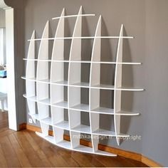 Bibliotheque Murale Design A Fixations Invisibles Ronde Gm