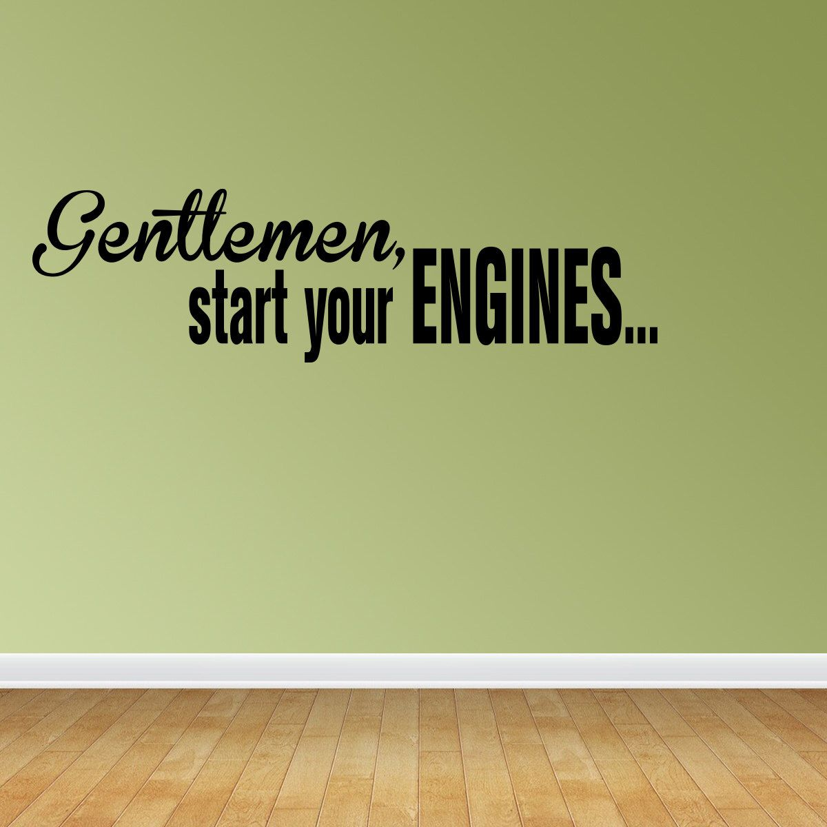 Wall Decal Quote Gentlemen Start Your Engines Racing Race Cars ...